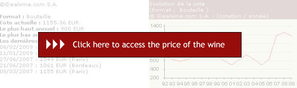 Sign in as a member of iDealwine to see the Ch�teau Troplong Mondot 2008, to see the last auction results, to follow the price fluctuates and manage online your cellar (free registration)