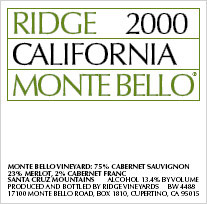 Santa-Clara Ridge - Monte Bello