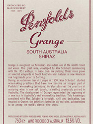 Barossa Valley Penfolds Wines Penfold's Grange 2008
