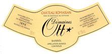 Etiquette Bandol Domaine Ott