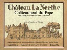 Etiquette Ch�teauneuf-du-Pape Ch�teau la Nerthe