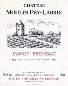 Château Moulin Pey-Labrie price by vintage