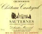 Etiquette Cantegril