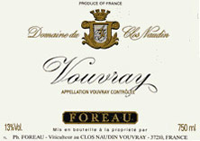 Vouvray Clos Naudin - Philippe Foreau