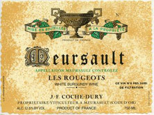 Meursault Les Rougeots Coche Dury  price by vintage