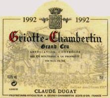 Griotte-Chambertin Grand Cru Claude Dugat 1993