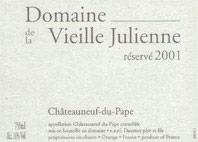Châteauneuf-du-Pape Vieille Julienne (Domaine de la) Réservé Jean-Paul Daumen