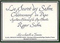 Châteauneuf-du-Pape Le Secret des Sabon Domaine Roger Sabon 1998