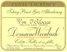 Pinot Gris (Tokay) Cuvée Laurence Weinbach (Domaine)