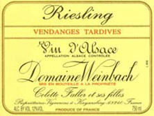 Riesling Vendanges Tardives Weinbach (Domaine)
