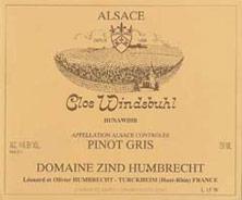 Pinot Gris (Tokay) Vendanges Tardives Clos Windsbuhl Zind-Humbrecht (Domaine) 1989