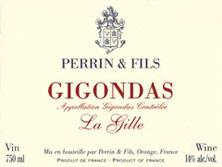 Etiquette Gigondas La Gille