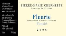 Etiquette Fleurie Ponci�