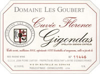 Etiquette Gigondas Cuv�e Florence