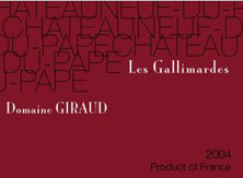 Châteauneuf-du-Pape Giraud (Domaine) Les Galimardes Famille Giraud