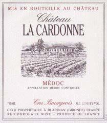 Etiquette Cardonne