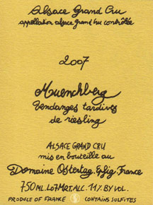 Riesling Vendanges Tardives  Muenchberg Ostertag (Domaine)