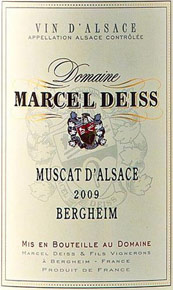 Muscat Bergheim Marcel Deiss  price by vintage
