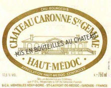 Etiquette Caronne Sainte-Gemme
