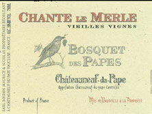 Châteauneuf-du-Pape Bosquet des Papes Chante Le Merle Vieilles Vignes