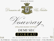 Vouvray Demi-Sec Clos Naudin - Philippe Foreau