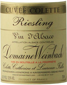Riesling Cuvée Colette Weinbach (Domaine)