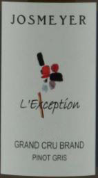 Pinot Gris Brand L'Exception Josmeyer (Domaine)
