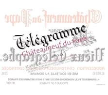 Châteauneuf-du-Pape  Télégramme