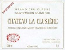 Château la Clusière 2000