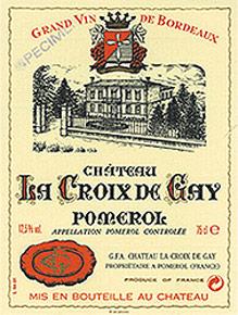 Etiquette Croix de Gay