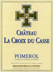 Etiquette Croix du Casse