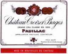 Etiquette Croizet Bages