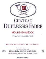 Etiquette Duplessis Fabre