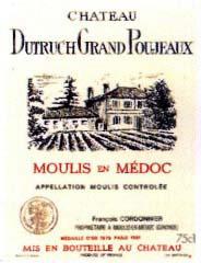 Etiquette Dutruch Grand Poujeaux