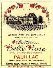 Etiquette Belle Rose