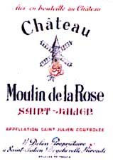 Etiquette Moulin de la Rose