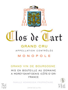 Clos de Tart Grand Cru Mommessin price by vintage