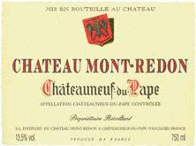 Etiquette Ch�teauneuf-du-Pape Mont-Redon