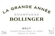 Etiquette Bollinger Grande Ann�e