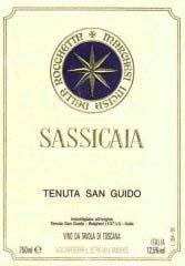 Etiquette Sassicaia