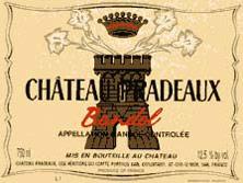 Etiquette Bandol Ch�teau Pradeaux