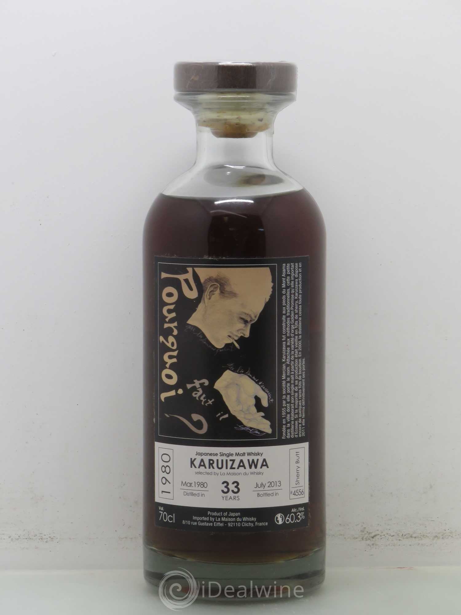 Whisky KARUIZAWA 33 ans Pourquoi faut il 1980-2013 60,3° sherry butt N°4555 1980 - Lot of 1 Bottle