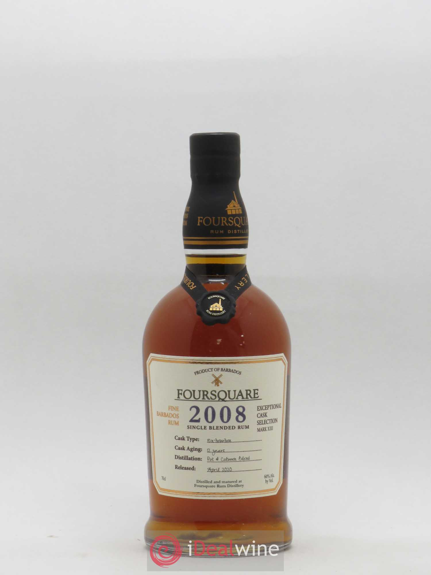 Rhum Barbade Foursquare 2008 12YO Exceptional Cask Selection Mark XIII Ex-Bourbon cask bottled in 2020 2008 - Lot of 1 Bottle