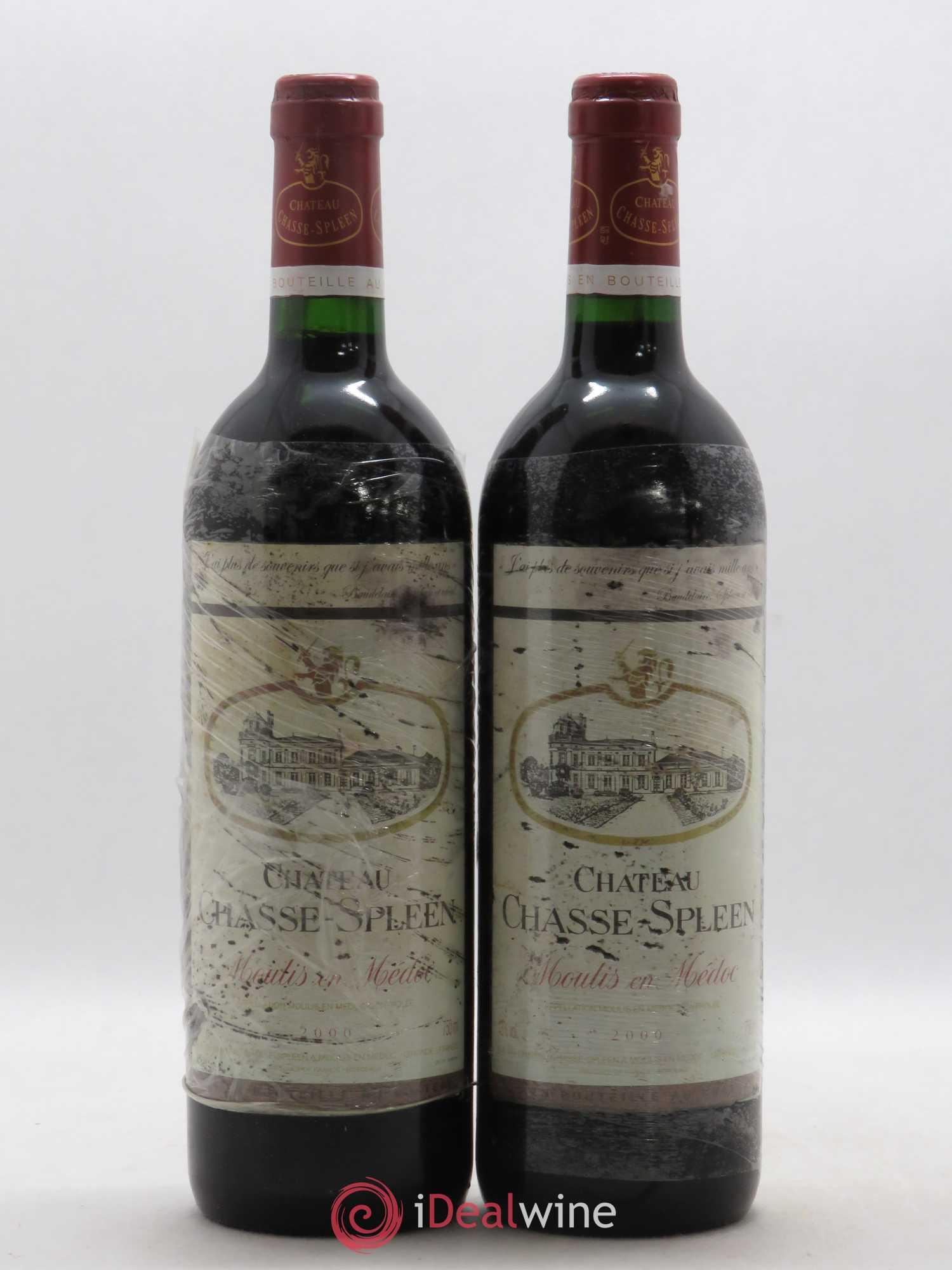 Château Chasse Spleen  2000 - Lot of 2 Bottles