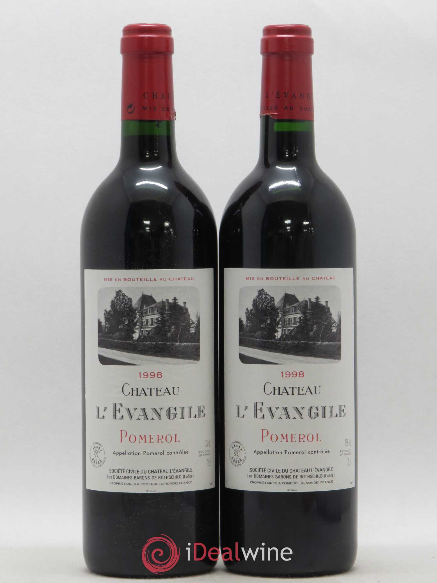Château l'Évangile  1998 - Lot of 2 Bottles
