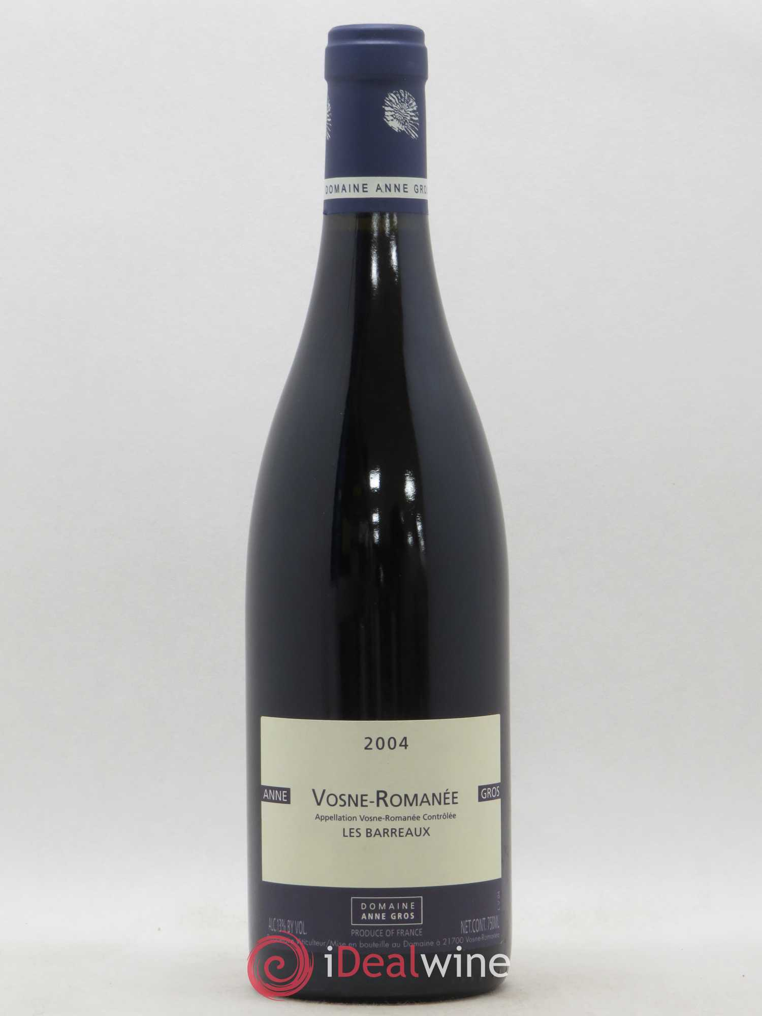 Vosne-Romanée Les Barreaux Anne Gros  2004 - Lot of 1 Bottle