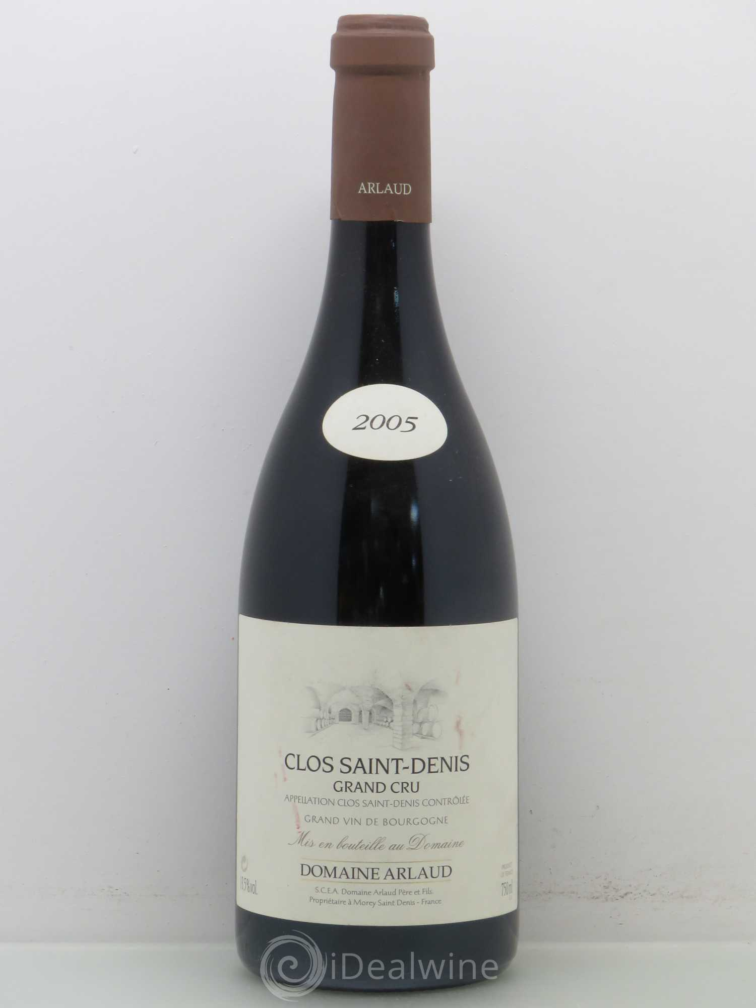 Clos Saint-Denis Grand Cru Arlaud 2005 - Lot de 1 Bouteille