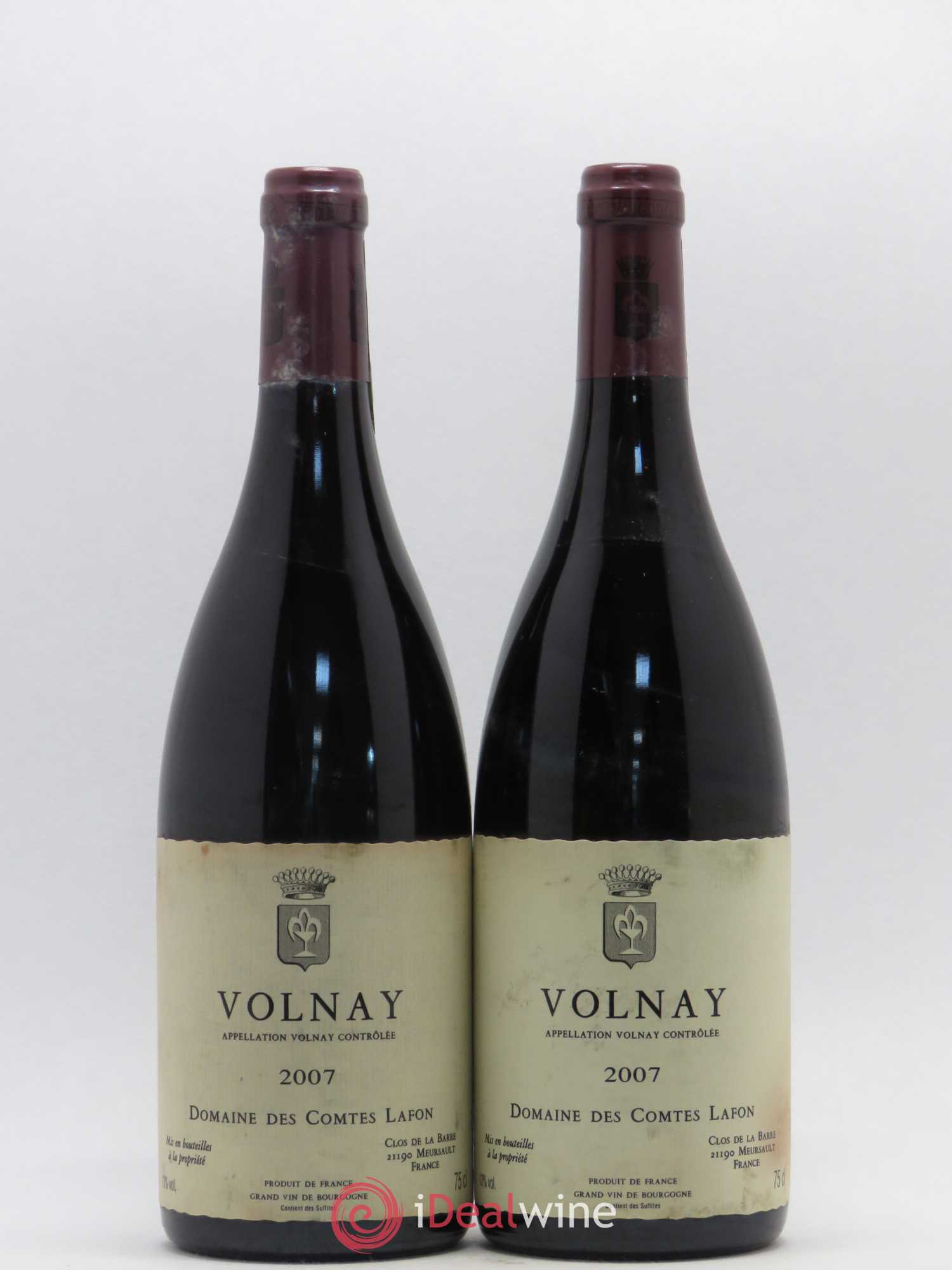 Volnay Comtes Lafon (Domaine des)  2007 - Lot of 2 Bottles
