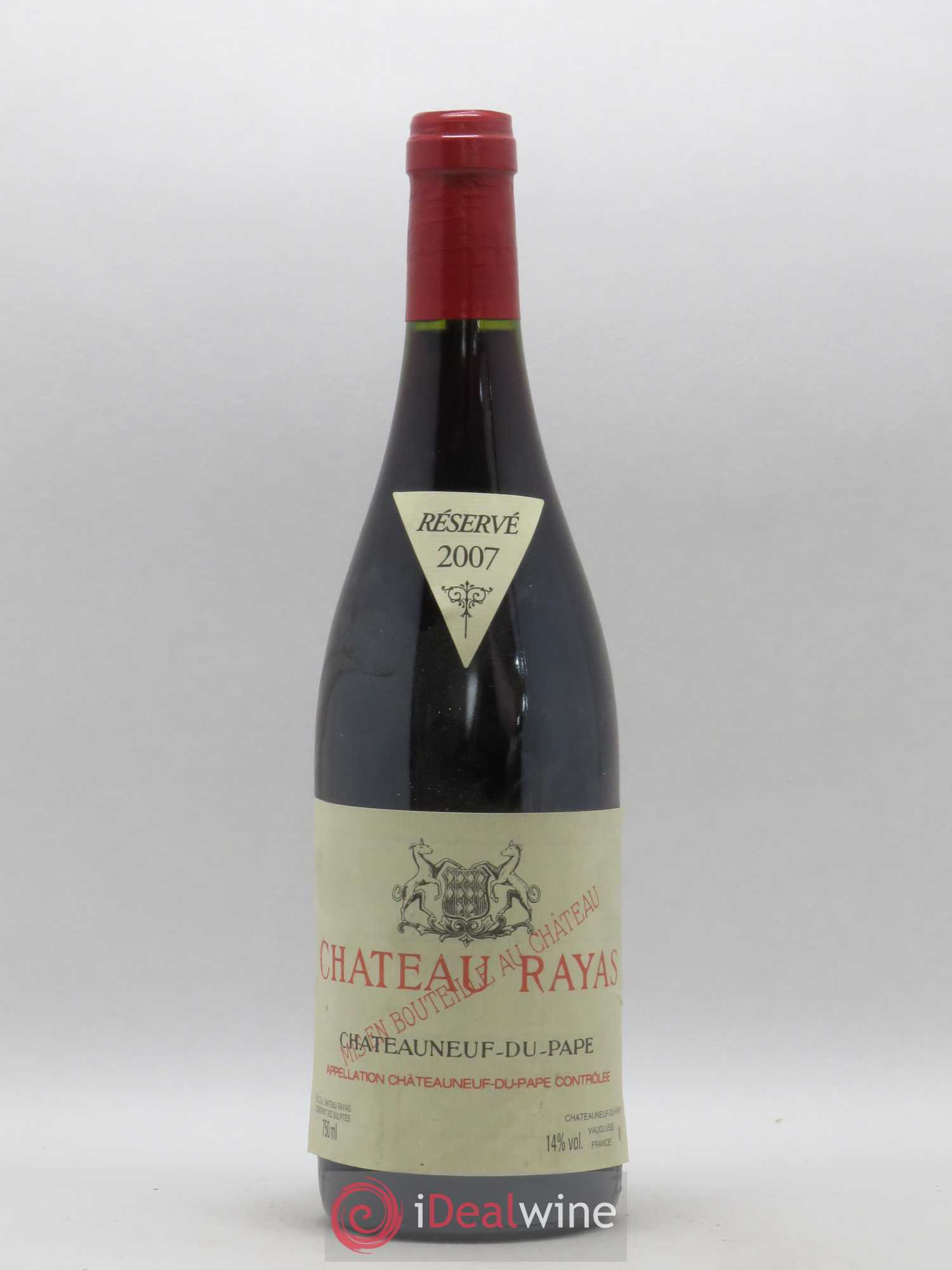 Châteauneuf-du-Pape Château Rayas Reynaud  2007 - Lot of 1 Bottle