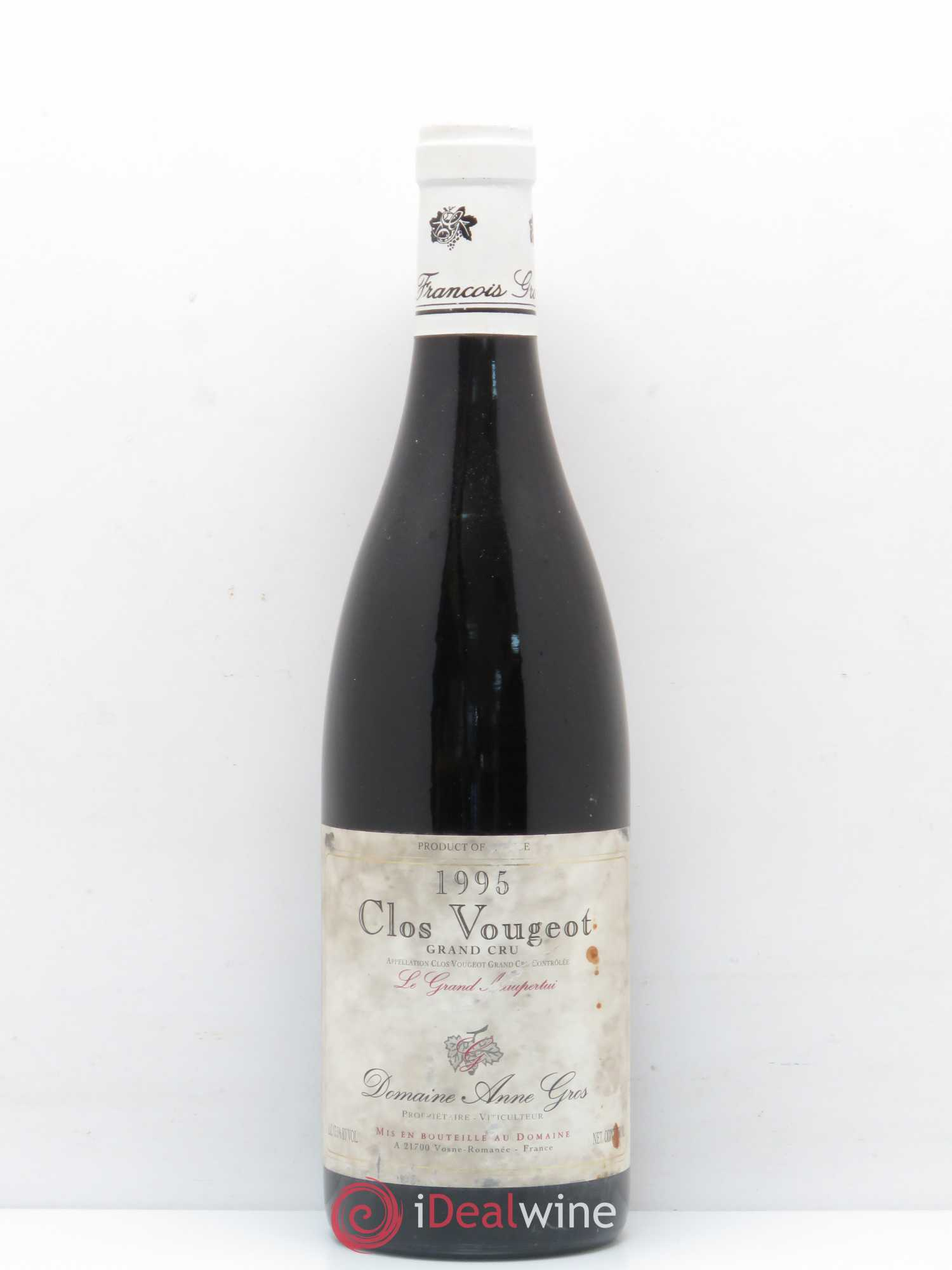 Clos de Vougeot Grand Cru Le Grand Maupertui Anne Gros  1995 - Lot of 1 Bottle